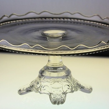 """Crystal Wedding"" Cake Stand by O'Hara Glass Co. c1875 - Glassware"