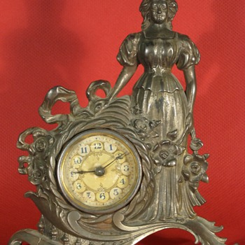 "Sears ""Hope and Plenty"" Cast Iron Clock, 1904 - Clocks"