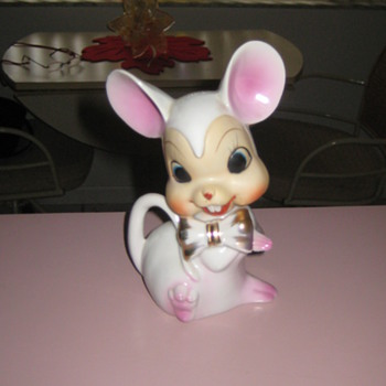 Vintage ceramic mouse - Figurines