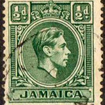 "Jamaica - ""King George VI"" Postage Stamps - Stamps"