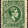 "Jamaica - ""King George VI"" Postage Stamps"