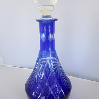 Blue Crystal Cordial Decanter