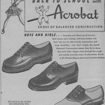 1945 - Childrens Shoes Advertisement - Advertising