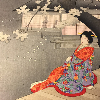 Antique Japanese Woodblock Art - (Need Translated) - Asian