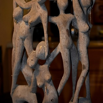 Here's the other Shona Ebony sculpture - before i clean it up. - Visual Art