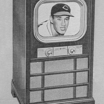 1951 - Gen. Elec. Model 17C105 Console TV Advertisement