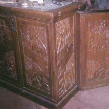 Hand carved bar brought from the 1900's  - Furniture