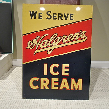 Halgren's Ice Cream sign