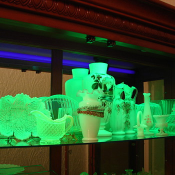 MY VASELINE URANIUM GLASS COLLECTION