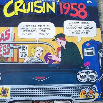 Cruisin&#039; 58 LP . Hits from 1958 but I love cover on this !  - Records