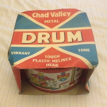Vintage Chad valley tough plastic melinex head vibrant tone metal drum