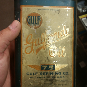 gulfpride 75 1 quart oil can
