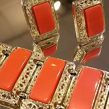 Moonglow Lucite... in Pow Orange!  - Costume Jewelry