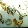 Some of my Costume Jewelry and a Butterfly neck watch