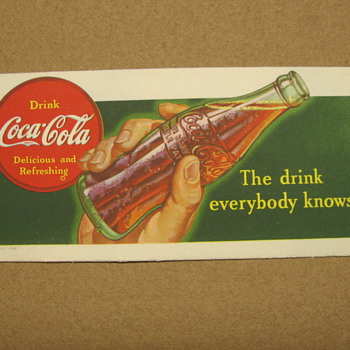 A few Coke Blotters - Coca-Cola