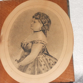 W. Dreser print, portrait, drawing. Does anyone know anything about it?