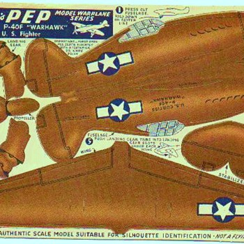 KELLOGS PEP  WW2 PAPER AIRCRAFT