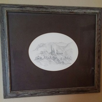 Antique drawing Keane Wonder Mill - Visual Art