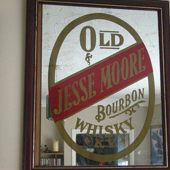 Old Jesse Moore Bar Mirror - Breweriana