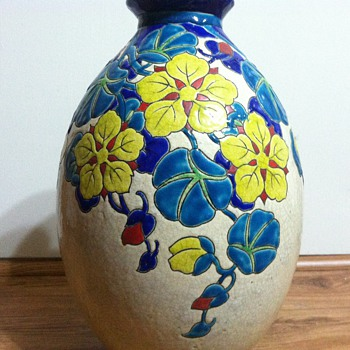 Charles Catteau faience vase - 1941 - Art Pottery