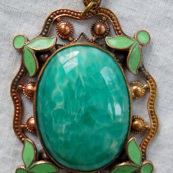My Arts & Crafts Unsolved Mystery Pendant - Costume Jewelry