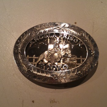 Angola Prison Rodeo belt buckle hand made