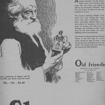 1919 - Sloan's Liniment Advertisement - Advertising
