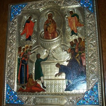 "Russian icon of the ""Lifegiving Font"" c. 1880 - Victorian Era"