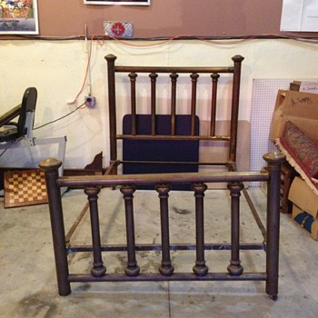 Vintage/Brass Copper Bed  unknown - Furniture