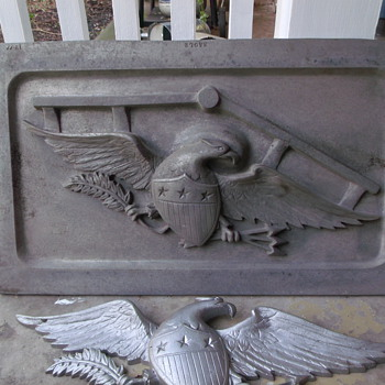 American Eagle Green-Sand casting plate mold