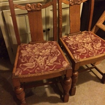 Matching Chairs with Engraving and Numbers