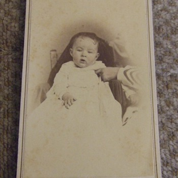 CDV of Baby and hidden mother from Clarksville, TN - Photographs