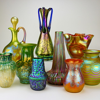 Art Glass grouping...in this case Loetz - Art Glass