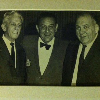 Original photo of Grandpa with Guy Lombardo - Photographs