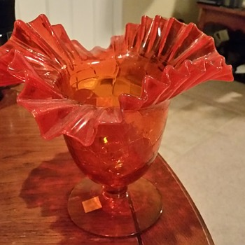Orange vase - Glassware