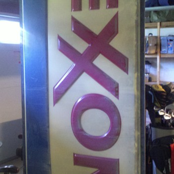 Exxon sign picked this weekend - Signs