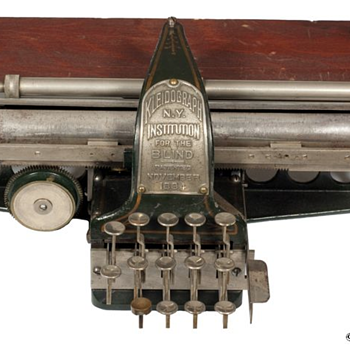 Kleidograph - typewriter for the blind - 1894