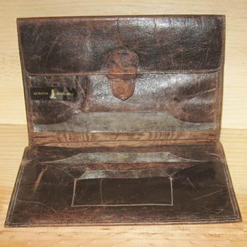 Vintage Genuine Kangaroo Brown Tri-Fold Wallet