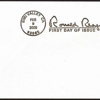 2005 - Ronald Reagan Stamp First Day Cover