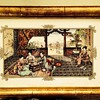 Old Tile (framed) with an oriental scene