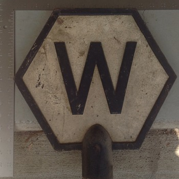 Help ID cast iron whistle sign - Railroadiana