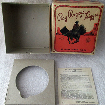 Found a great box today...1951 Roy Rogers Alarm - Clocks
