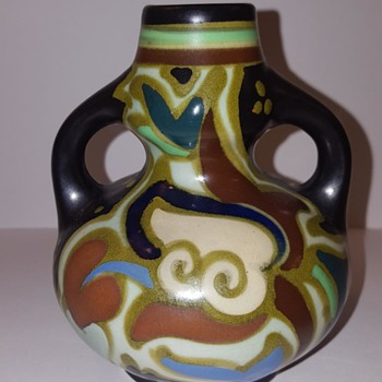 Japanese Art Pottery Gouda-Style Vase
