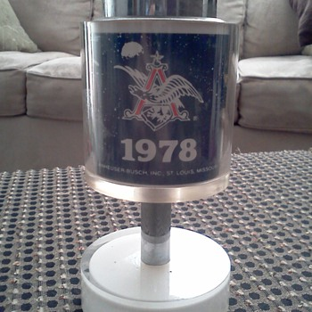 Super Rare! 1978 Anheuser -Busch &quot;Race for Space&quot; Scripto Butane Lighter - Breweriana