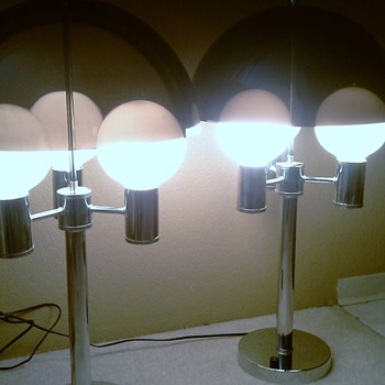 Smoked Lucite Lamps