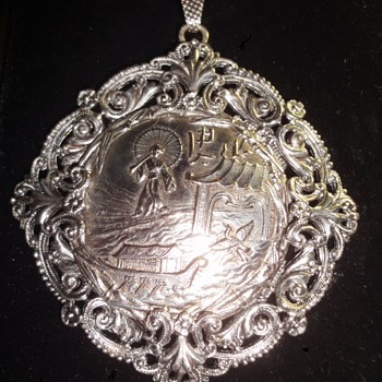 Please help me: Chinese or Japanese Vintage Sterling Silver Asian Pendant  - Fine Jewelry