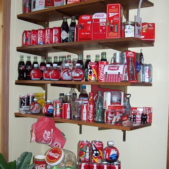 1 wall in my Coca Cola/Den (for TGBWC!) - Coca-Cola