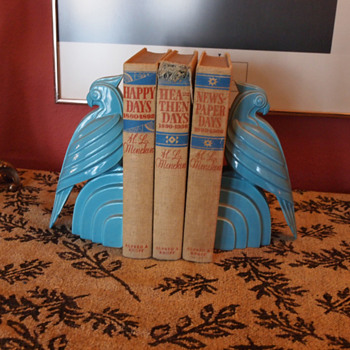 Art Deco Bird Bookends - Books