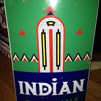 Indian Gasoline Pump Sign - Advertising