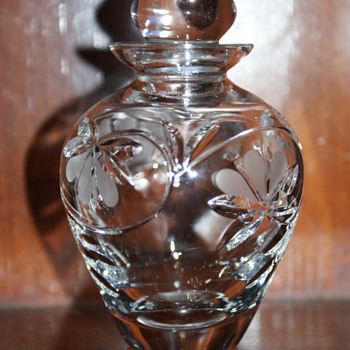 Royal Doulton Crystal Perfume Bottle and Atomizer